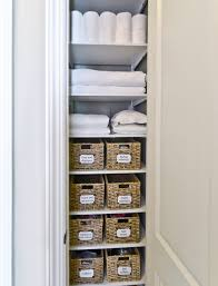 bathroom closet storage ideas linen closet storage organized living freedomrail transitional