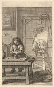 a painter painter in his studio by abraham bosse