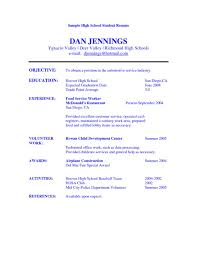 high resume for college admissions exles high student resume objective exles sle for college