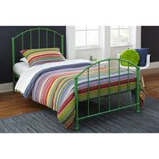 twin size beds for girls amazon com dhp 3293096 green brick mill ivy metal bed twin