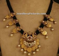 black gold necklace jewelry images Black thread jewellery indian design jewellery designs jpg