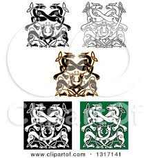 clipart of celtic knot wolf or designs royalty free vector