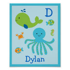 under the sea nursery posters zazzle