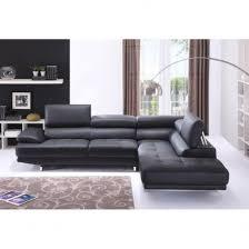 canapé grand angle canapé grand angle in canapé grand angle en cuir avec têtières