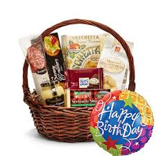 gourmet snacks same day delivery so dandy happy birthday gift basket at send flowers