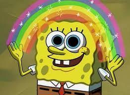 Rainbow Meme - spongebob rainbow blank template imgflip