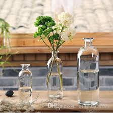 glass vase flower pots home decoration clear bottle desktop decor