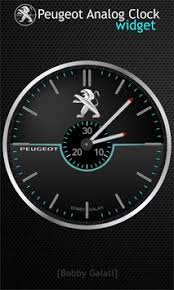 analog clock widgets for android peugeot analog clock widget hd apk free personalization