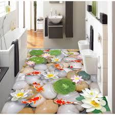 3d Bathroom Floors by Aliexpress Com Buy 3d Pvc Flooring Custom Wall Sticker
