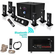 500 watt home theater system new pyle bluetooth 7 1 ch 500w home theater system stereo speaker
