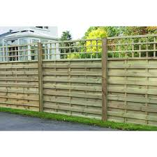 wickes hertford fence panel 1 8m x 1 8m integrated trellis