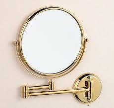 Retractable Mirror Bathroom Cosmetic Gold Mirror Magnifying Mirror 8 Inch Mirror