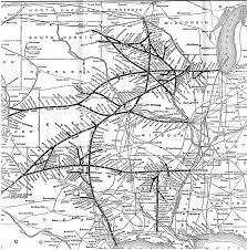 Chicago City Train Map by Cri U0026p