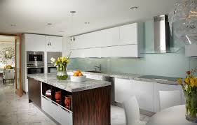 back painted glass kitchen contemporary with kitchen island range