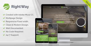 themeforest rightway v1 0 corporate multipurpose muse template