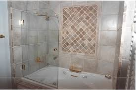 bathroom frameless shower and tub enclosures with beautiful