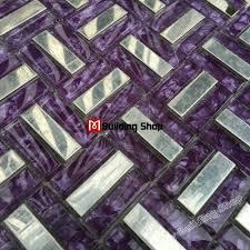 Purple Kitchen Backsplash Purple Glass Tile Backsplash Home Decorating Interior Design