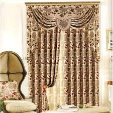 cheap living room curtains sets blue lantern swag valance curtain