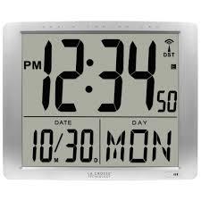 Wall Clock La Crosse Technology 16 In X 20 In Super Large Atomic Digital