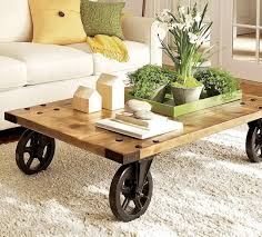 Rustic Coffee Table On Wheels Coffee Tables With Wheels Handmade Design Rustic Coffee Table On
