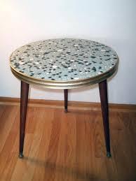 pebble outdoor coffee table vintage mid century mosaic side table pebble mosaic table stone