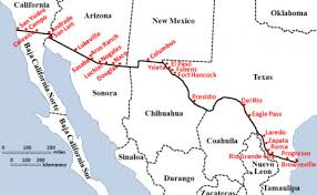 map of mexico and california list of united states mexico border crossings border mexpro