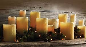 slim unscented drip 1 75 x 6 battery operated candle dual timer