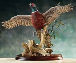 border rising pheasant figurines and ornaments