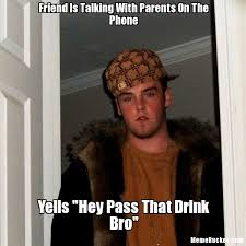 Talking On The Phone Meme - friend is talking with parents on the phone create your own meme
