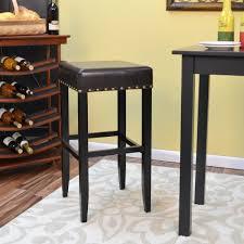 Linon Home Decor Bar Stools Linon Home Decor Claridge 30 In Black Cushioned Bar Stool