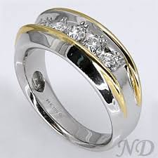 mens two tone wedding bands two tone men s diamond wedding band