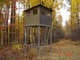 Deer Blind Elevators Enclosed Deer Stands Need And Elevated Deer Blind Build Or