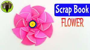 tutorial to make scrap book flower diwali and christmas