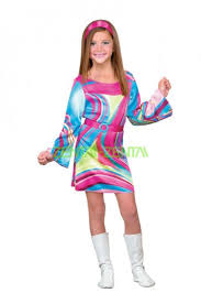 Halloween Costumes Kids Colorful Gogo Dancer Halloween Costume Kid
