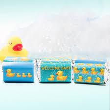 rubber ducky bubble bath baby shower mini candy bar stickers rubber ducky bubble bath baby shower mini candy bar stickers set of 54