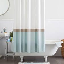 Shower Curtain Striped Horizon Stripe Shower Curtain Clearwater Home
