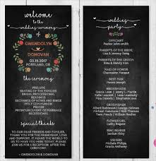 chalkboard wedding program 8 chalkboard wedding program templates psd vector eps ai