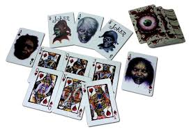 genuine bicycle deck playing cards halloween horror casino poker