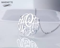 2 Inch Monogram Necklace 2 Inch Monogram Necklace In Sterling Silver By Marinettejewelry