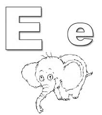 preschool worksheets to print animal alphabet letter e coloring
