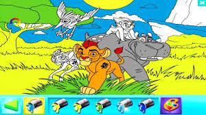 disney junior color play lion guard coloring book disney