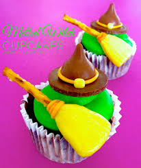 melted witch cupcakes with candy witch hats u0026 broom sticks