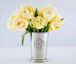 monogram mint julep cup stainless steel cup steel flower vase
