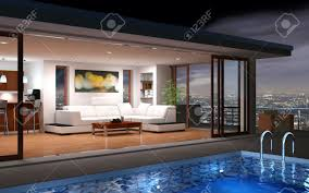 House With Pool Modern House With Pool And Beautiful View Stock Photo Picture And