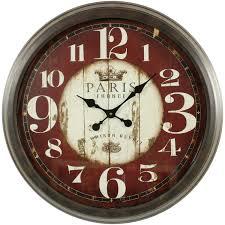 Horloge Murale Rouge by Horloge Ancienne Murale Paris France 70cm