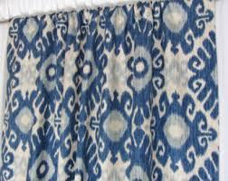 Blue Ikat Curtain Panels Modern Ikat Curtain Panels Trendy Home Decor Boho Design