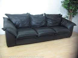 The Leather Factory Sofa Leather Factory Pillowtop Sofa Black Oc Recycled Furniture