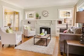 Restoration Hardware Living Rooms Living Room With Crown Molding U0026 Built In Bookshelf In Seattle Wa