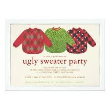 ugly christmas sweater party invitation zazzle com