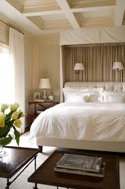 Traditional Style Bedrooms - accent wall behind bed design ideas